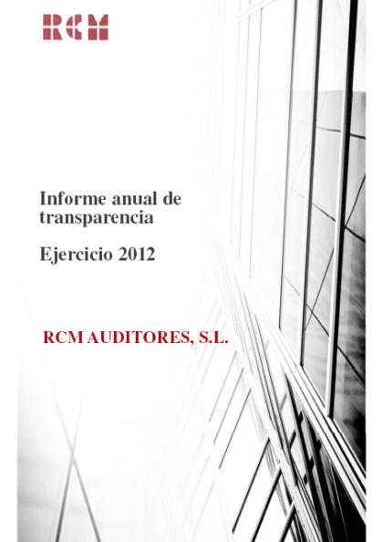 Informe de transparencia 2012
